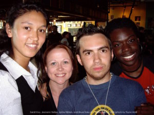 Sarah Kay, Jeanann Verlee, Jamie Kilstein, and Akua Doku of of Team Urbana 2006 (photo by Taylor Mali)
